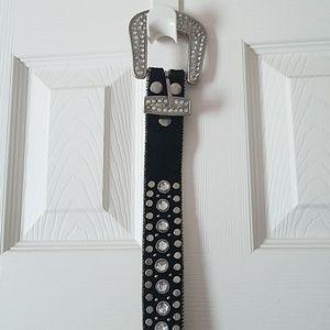 Jeweled black belt